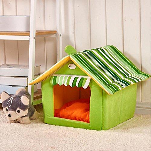 New Fashion Striped Removable Cover Mat Dog House Lits de chien pour petits chiens moyens Produits pour animaux de compagnie Lits pour animaux de compagnie pour chat , M , 3