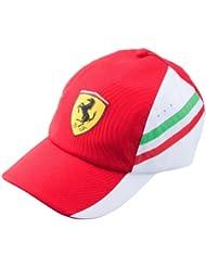 Puma Ferrari Team – Gorra rojo blanco Fórmula 1 Team tapa Alonso Massa