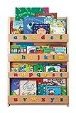 Tidy Books® - Das originale Kinder-Bücherregal mit Alphabet - Buchcover werden präsentiert - Schmales Regal fürs Kinderzimmer - Ideale Kinderbücher Aufbewahrung - 115 x 77 x 7 cm (Natur)