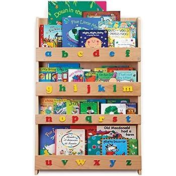Tidy Books - Bibliothèque Tidy Books avec Lettres Minuscules - Bois Naturel