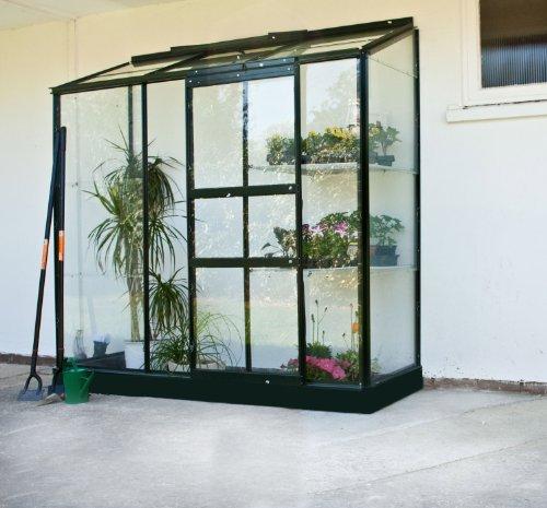 Gewächshaus Halls Altan 3 1,33m² Alu grün 3mm Blankglas -