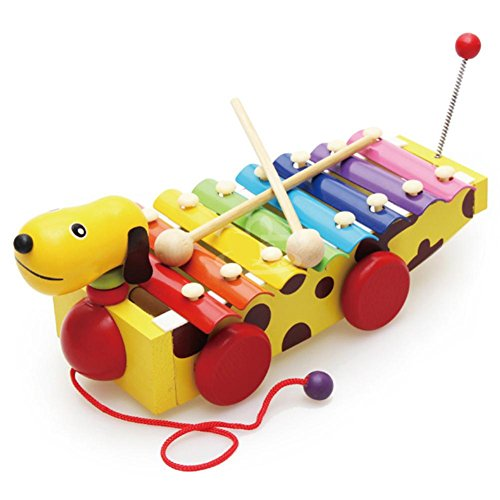 8 Note Wooden Xylophone Toy with Two Mallets, Hand Knock Rainbow Piano, Glockenspiels Musical Toys, Perfect for Boys and Girls