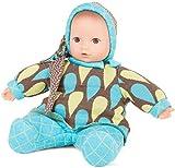 Götz 1791121 Baby Pure Vintage Puppe - 33 cm große Erstlingspuppe ohne Haare, braune Augen -...