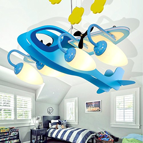 Guo Kinderzimmer-Lichter Jungen-Schlafzimmer-Flugzeug-Lichter Kronleuchter-Pers5onlichkeit-kreative Legierungs-Lampen E14 Lampen-Hafen - 3