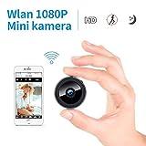 Mini Kamera Überwachungskamera WLAN 1080p,FREDI HD Bluetooth Camera Tragbare WiFi IP Kleine Kamera P2P mit Bewegungsmelder/Mikrofon/Videoaufzeichnung/mit Handy übertragung autokamera mit akku