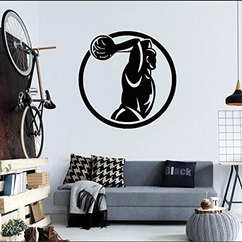 YuanMinglu Wall Boy Player Dekoration Vinyl Aufkleber Wand innen Kunst 42x43 cm