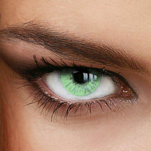 Farbige Jahres-Kontaktlinsen Naturally SWEET GREEN - in GRÜN - von LUXDELUX® - (-1.50 DPT in Minus)