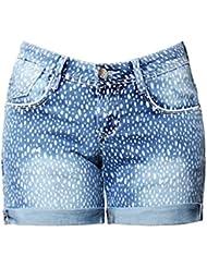 Shorts Pour Femmes Spot Bas Taille Stretch Denim Loisirs Jeans Vêtements De Poche Loose Hot Pants Party Clubwear