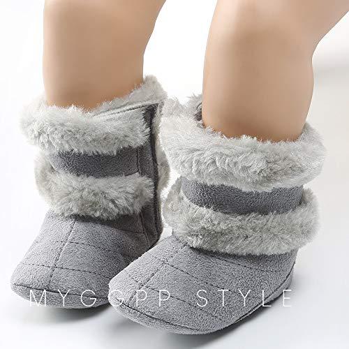 Bild von cinnamou -Baby-Baumwolle halten warmen Plüsch-weiche Schnee-Stiefel weiche Krippe Schuhe Stiefel Winterstiefel Winter Schneeschuhe weiche Stiefel
