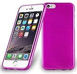 Cadorabo Custodia per Apple iPhone 6 / iPhone 6S in Hot Pink - Morbida Cover Protettiva Sottile di Silicone TPU con Bordo Protezione - Ultra Slim Case Antiurto Gel Back Bumper Guscio