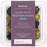 Booths Olives with Mediterranean Herbs, 160 g
