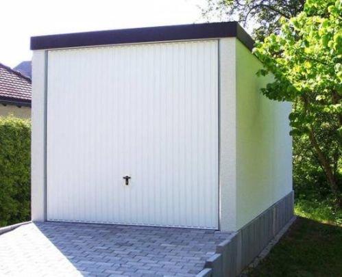 Fertiggarage Premium Auto Garage 2,58 m x 5,85 m x 2,35m Glattwand verputzt