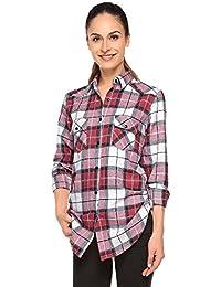 Match Mujer Camisa Tartán Franela #B003