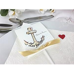 Gastgeschenk zur Hochzeit Anker Personalisiert inkl. Lollies
