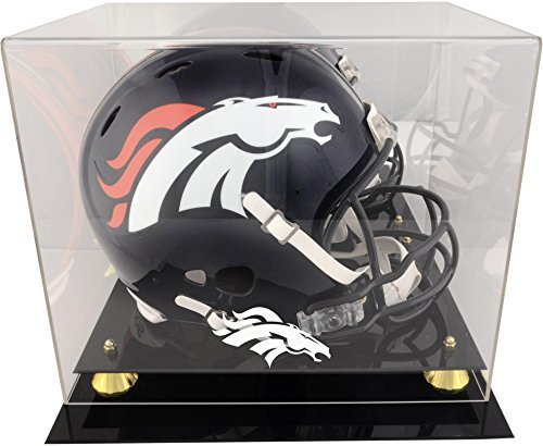 Montiert Erinnerungen Denver Broncos Helm DISPLAY Fall durch montiert Erinnerungen