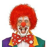 Amakando Rote Clown Perücke Afro Lockenperücke rot Afroperücke Harlekin Unisex Faschingsperücke Locken Kindergeburtstag Karnevalsperücke Mottoparty Haare Geburtstag