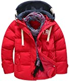 Daunenjacken für Kinder Jungen Mädchen Winterjacke Mantel Trenchcoat mit Kapuzen