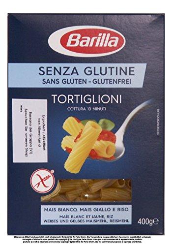Barilla Senza Glutine Tortiglioni 8 x 400g = 3200g Glutenfreie Teigwaren aus Mais- und Reismehl
