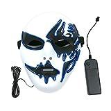 Máscara con luz LED decoración creativa para fiesta de Halloween Street...