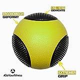 Medizinball »Medicus« / 1 - 10kg / Fitnessball / Gewichtsball / Leichte bis sehr schwere Gymnastikbälle in professioneller Studio-Qualität 10kg / dunkelgrün -