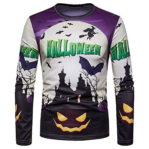 Herren Oberteile,TWBB Halloween Drucken Langarm Pullover Sweatshirt Lange Ärmel Shirt