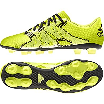 adidas Men's X 15.4 Fxg Solar Yellow, Core Black and Solar Yellow Football Boots - 11 UK