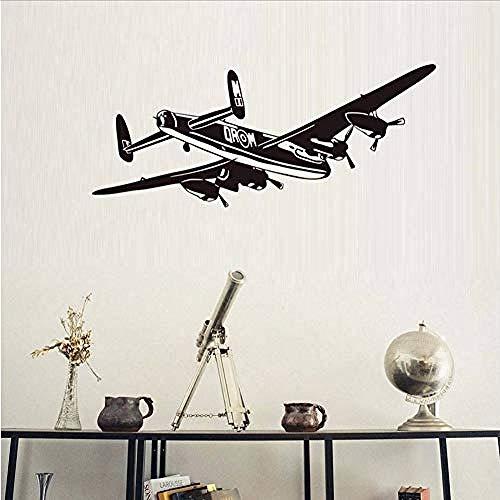 Wandaufkleber Flugzeug vinyl wandaufkleber bomber flugzeug abnehmbare kunstwand wohnzimmer dekoration zubehör 140 * 58 cm - Geprüft Bomber