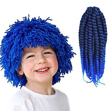 """GANTA @ Schwarz ombre blau 12 """"kanekalon synthetisch 2x havana mambo twist 2 tone 100g haare zöpfe , 1 pack"""