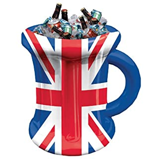 Amscan International 994902 Great Britain Inflatable Beer Mug, Red/White/Blue, 35 x 45 cm