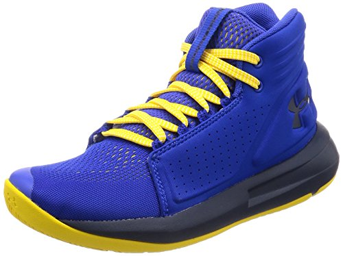 Under Armour UA Bgs Torch Mid, Scarpe da Basket Bambino, Blu (Team Royal/Taxi/Academy), 38.5 EU