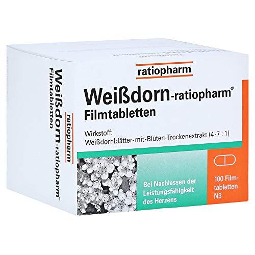 WEISSDORN-RATIOPHARM Filmtabletten 100 St Filmtabletten