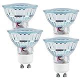 Pearl Spot GU10LED risparmio: LED Spotlight, Vetro, GU10, 1,5W, 230V, 120lm, Bianco caldo, Set di (LED della lampada GU10bianco caldo)