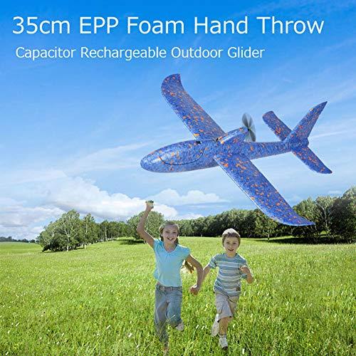 Outdoor-kondensator (0Miaxudh Handwurf Flugzeug Spielzeug, 35 cm Outdoor Handwurf Kondensator Segelflugzeug Flugzeug Flugzeug Modell Kinder Spielzeug)