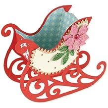 Ellison Europe Sizzix Bigz Brenda Walton - Troquel, diseño de trineo navideño, multicolor
