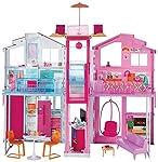 Realizzato in stile firma Barbie, questa casa offre più di un semplice gioco tradizionale - ci sono anche funzioni divertenti che aggiungono wow da cima a fondo! Una sedia a sdraio rosa può essere disposta per appendere all'interno o all'esterno al p...