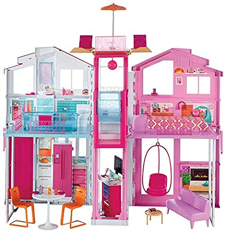Barbie DLY32 Three-Storey Townhouse Playset - casa