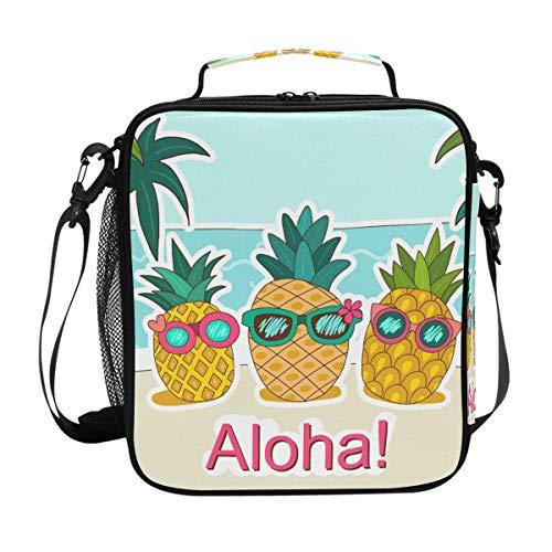 DEZIRO Lunchtasche mit Sonnenbrille, mit Aloha Ananas