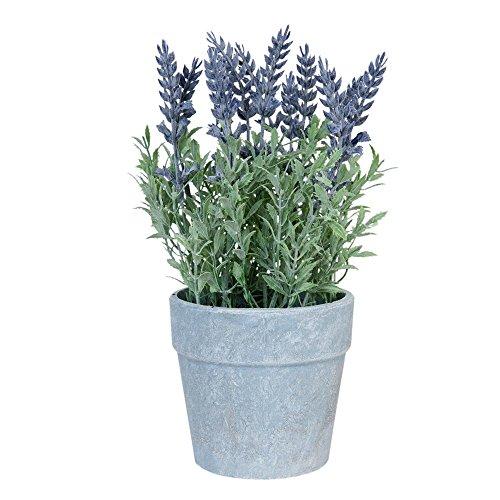 Clayre & Eef 6PL0187 Lavendel im Topf Kunstblume Blumendekoration ca. 25 cm