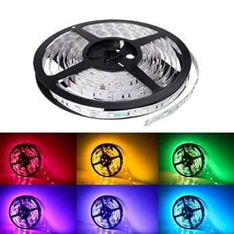 LE Striscia RGB 5m 150 LEDs 5050, 16 Colori Flessibile 12V Per decorazione interna festa matrimonio cerimonia