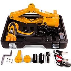Gato eléctrico y portátil y llave de tuerca para el coche, 12V, para VUD y todoterrenos, levanta hasta 2000 kg