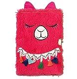 My Sunshine - Diario intimo in morbido peluche con lucchetto, motivo: unicorno, orso, civetta per le ragazze adulti, regalo di compleanno 21 cm x 14 cm x 1.9 cm Violet