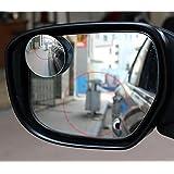 "Topways® Blind Spot Mirrors Adjustable 50mm 2"" Coche Retrovisores de Ángulo Muerto Punto Ciego Espejo Lateral Convexo 360 Gran Angular Ajustable Redonda Sin Rebordes 2pcs"