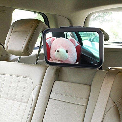 PEKITAS Rückspiegel zur Überwachung des Babys im Auto, 360 ° verstellbar, unzerbrechlich, Innenspiegel, für Babys, für Sitze von Kindern