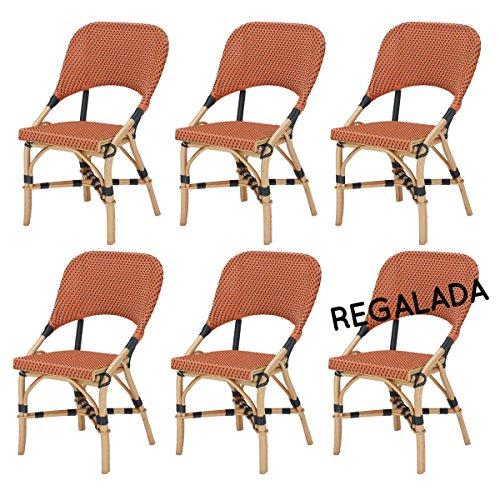lot de 6 chaises JERY en résine tressée