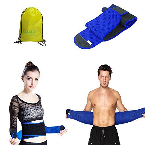 Fitnessgürtel Bauchgürtel für Männer und Frauen - Schwitzgürtel Einstellbar Taillen Trimmer Gürtel für Gewicht zu verlieren - Waist Trimmer Bauchweggürtel Atmungsaktiv