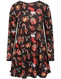 Lush Clothing Women's Long Sleeve Christmas Dress Uk 12-14 Black Gifts / Candles