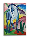 Printed Paintings Leinwand (60x80cm): Franz Marc - Blaues Pferd (1911)