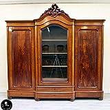 Classic Interior Kleiderschrank Bücherschrank Antik Barock Schrank Vitrine XXL