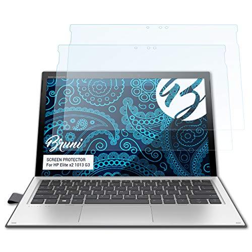 Bruni Schutzfolie kompatibel mit HP Elite x2 1013 G3 Folie, glasklare Displayschutzfolie (2X)