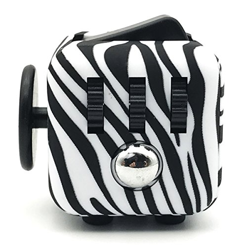 Fidget Cube Relieves Stress And Anxiety for Children and Adults Anxiety Attention Toy (Zebra)
